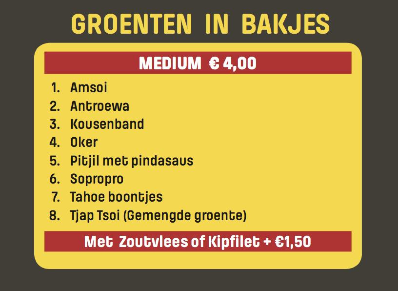 Surinaamse Groenten in bakjes - Rotterdam
