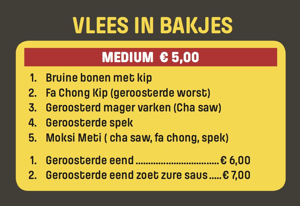 Extra's - Bakjes Vlees Bestellen in Rotterdam